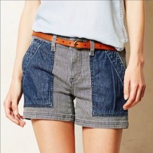 Anthro pilcro and the letter press denim shorts